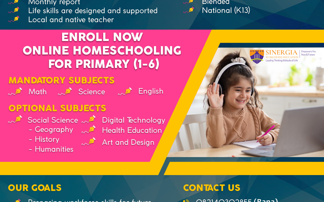 Enroll Now For Primary Level (1-6)